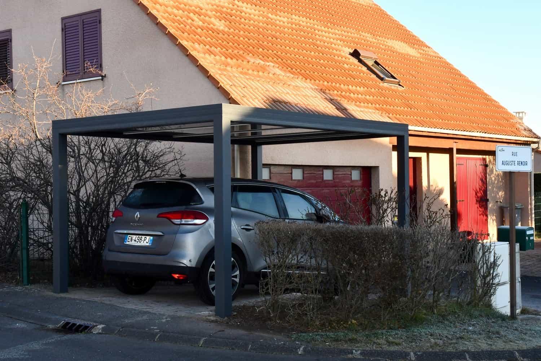 carport devant maison