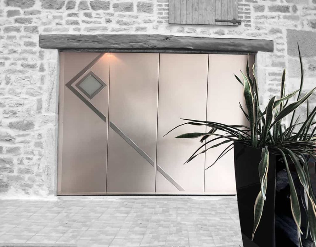 porte de garage motif mercure