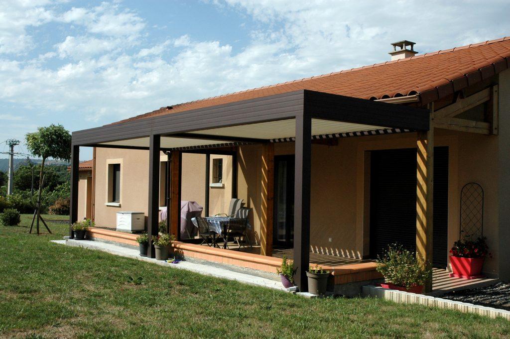 pergola avec bioclimatique terrasse