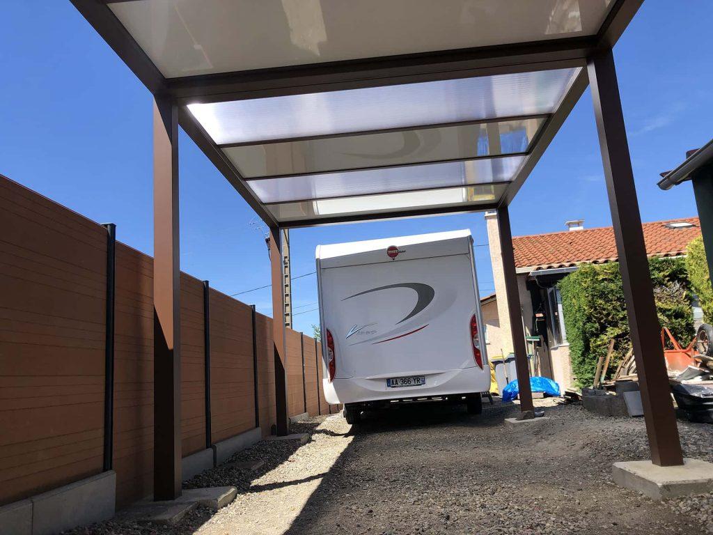 carport aluminium pour camping car