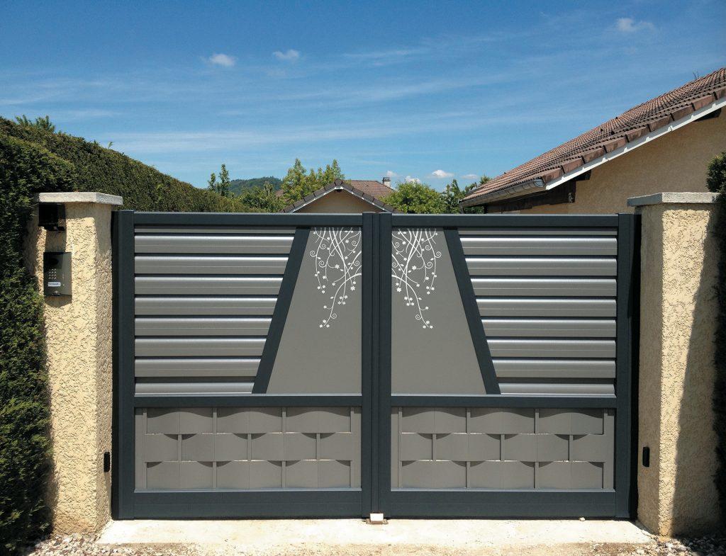 portail gris decoration