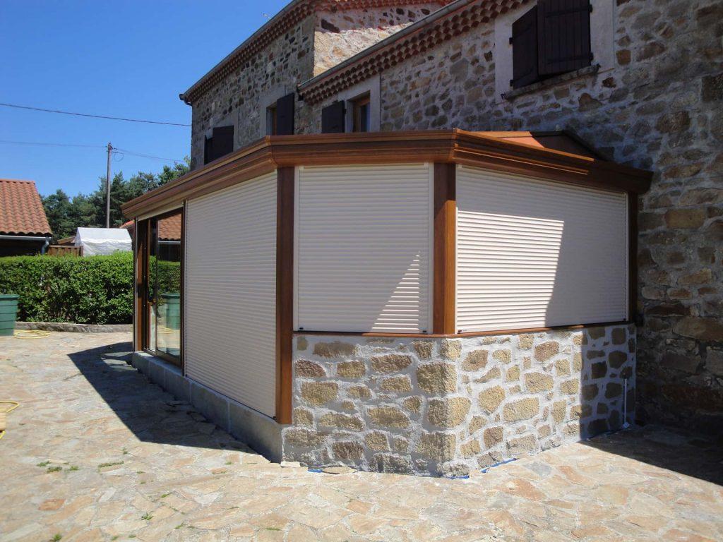 veranda sur muret